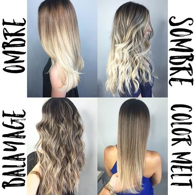 •OMBRE | drastic change from dark to light •SOMBRE | more blended subtle change from dark to light • COLOR MELT | softest melt from dark to medium to light • BALAYAGE | soft dimension, not a solid color on the ends, with pops of lows and light, while still being blended from darker to lighter. •just a quick education for my clients who are confused about the difference between all the terminology. ✌️ •there is no need to be afraid of the word OMBRE! Ombres can still be blended and beautif...