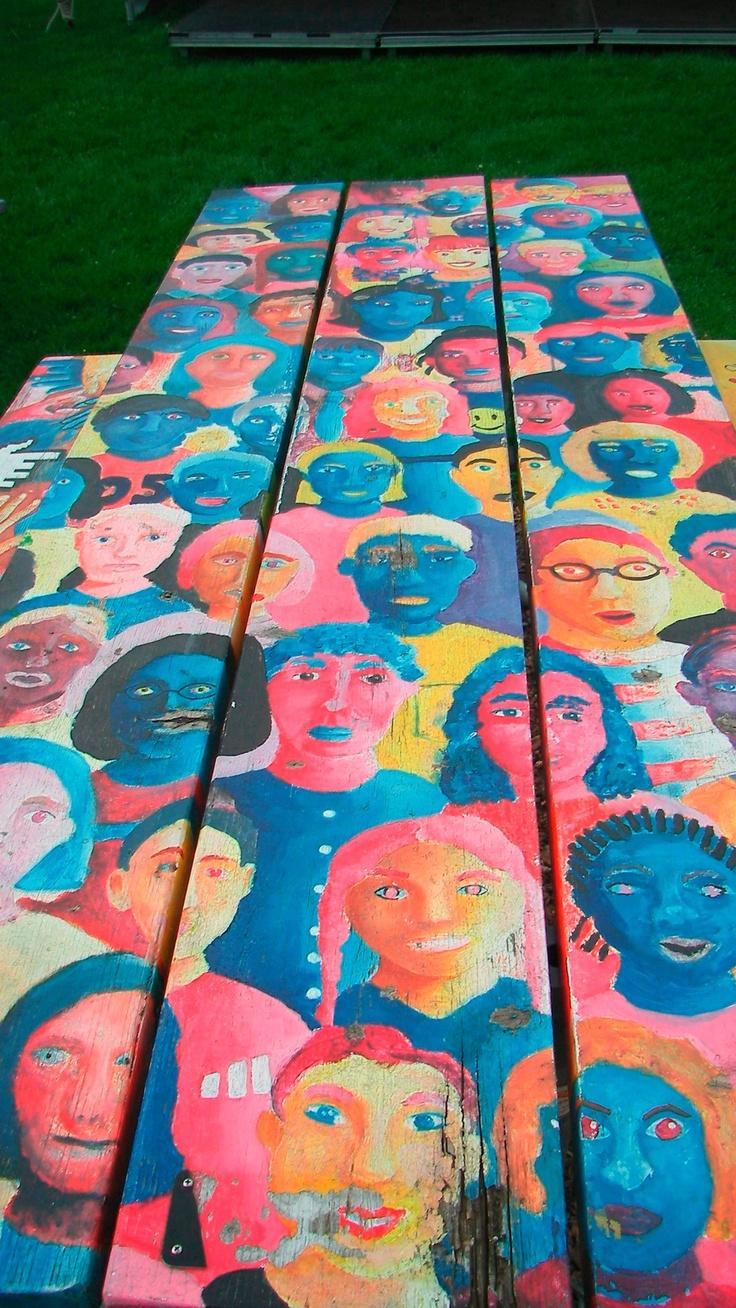 Garden art ideas for kids - Picnic Table In Elmhurst
