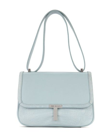 Leather T bag - Powder Blue | Bags | Ted Baker