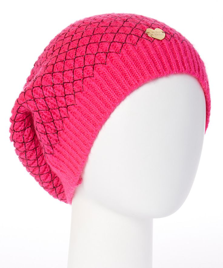 This Betsey Johnson Neon Pink Net Worth Beanie by Betsey Johnson is perfect! #zulilyfinds