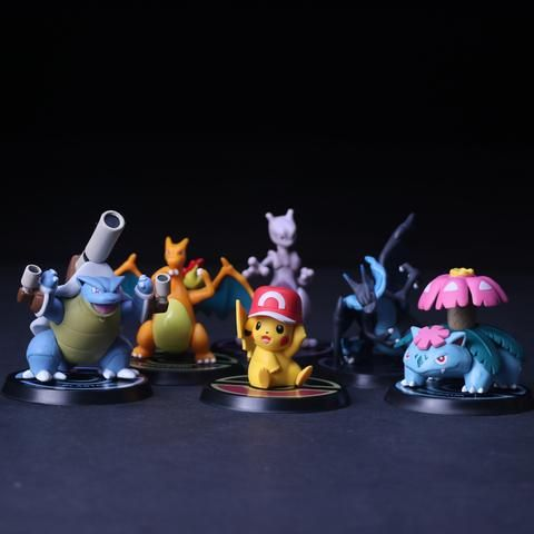 Pikachu, Mewtwo, Charizard, Venusaur, Blastoise - Mini Action Figure