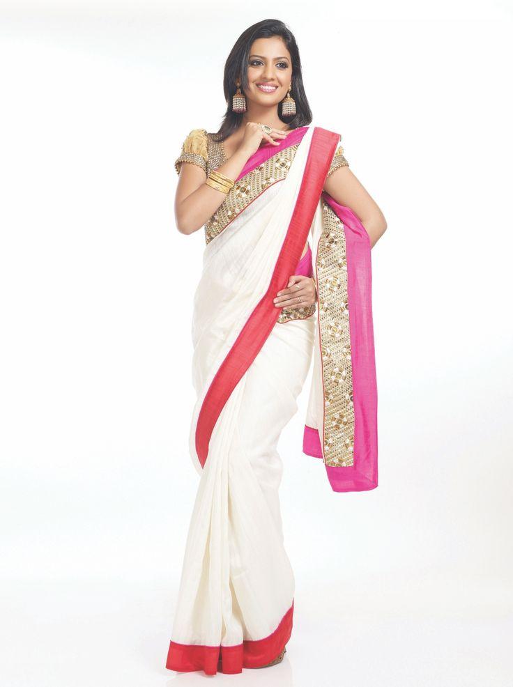 Janhavi from Honaar Sunn mee Hya Gharchi in a beautiful white saree...#HSM #Janhavi #zeemarathi #beautiful #sarree #white #traditional