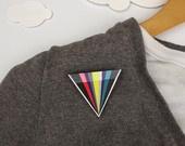 Geometric Modern Brooch Triangle - Kaleidoscope. £9.50, via Etsy.