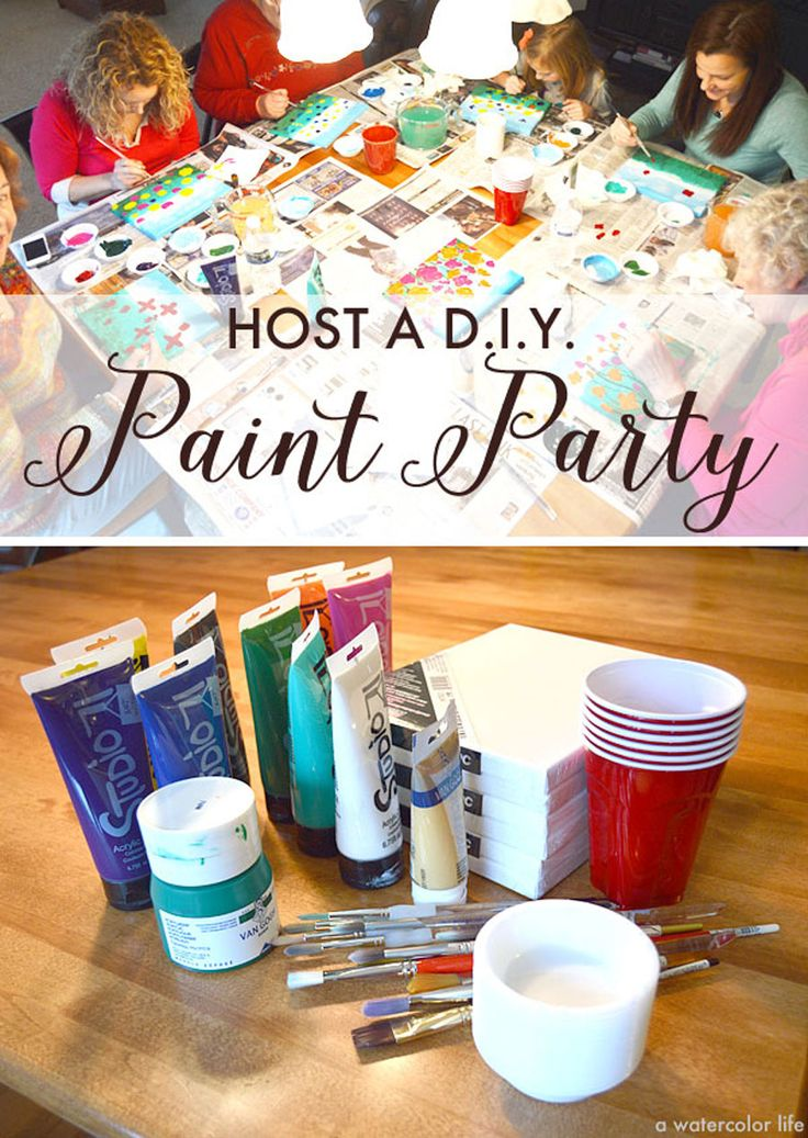 How To Host A D I Y Art Painting Party Www