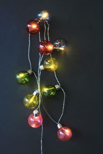 Coloured Festival Light Chain - 60cm 10 Bulbs #kids #decor #childrensroom