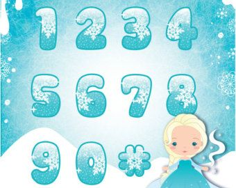 Frozen The Snow Queen Clipart Set Instant Download by araqua