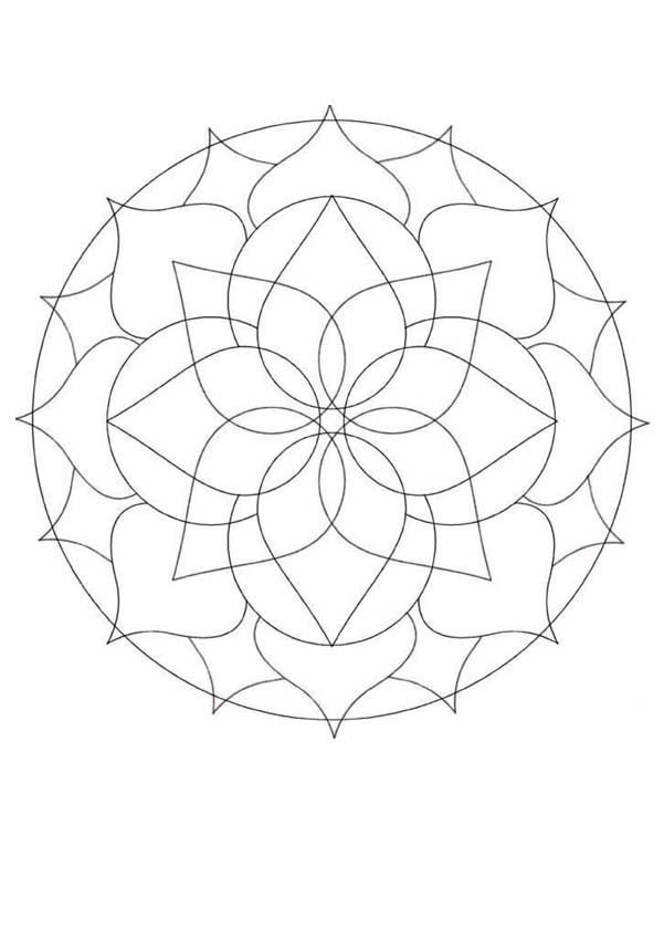 This Beginners Mandala Coloring Sheet Is A Fun Design And Easy To Color 32 Page Can Be Decorated Online With The Interactive