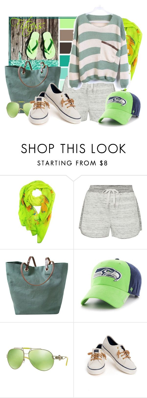 """""""Fitness"""" by tasha1973 ❤ liked on Polyvore featuring Seed Design, Calvin Klein, Independent Reign, Versace and Sperry"""
