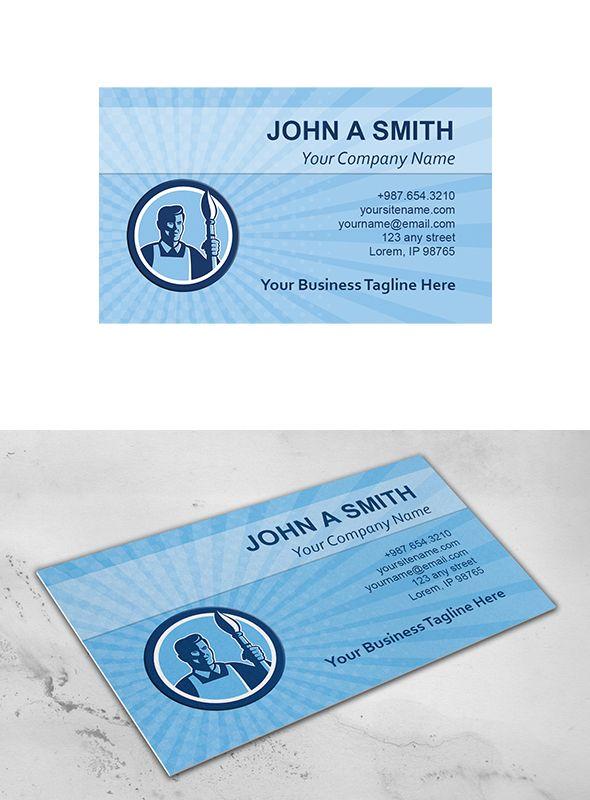 Business Card Template Artist Painte