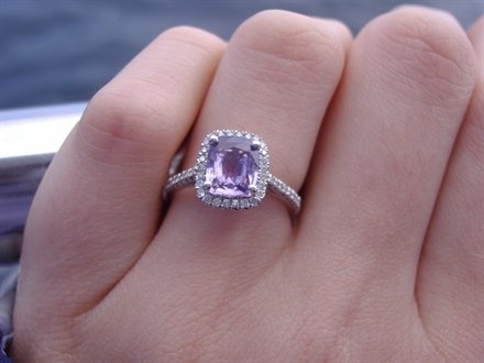 lavender sapphire.... shut the front door!! My favorite color AND my birth stone... NEED IT!!!