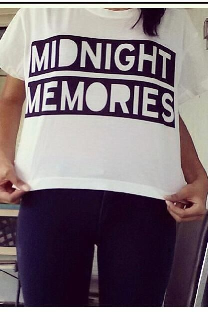 Fresh Tops is coming out with this 'Midnight Memories' shirt soon! :)