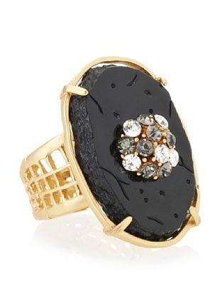 36% OFF T Tahari Oval Stretch Adjustable Ring (Black)