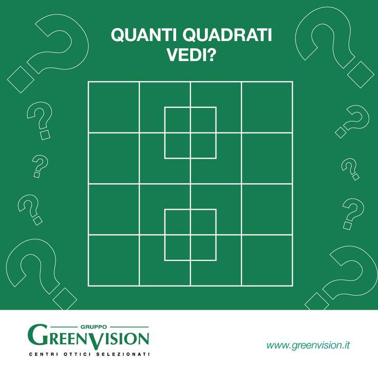 Quanti sono i quadrati in questa immagine?  #GreenVisionQuiz