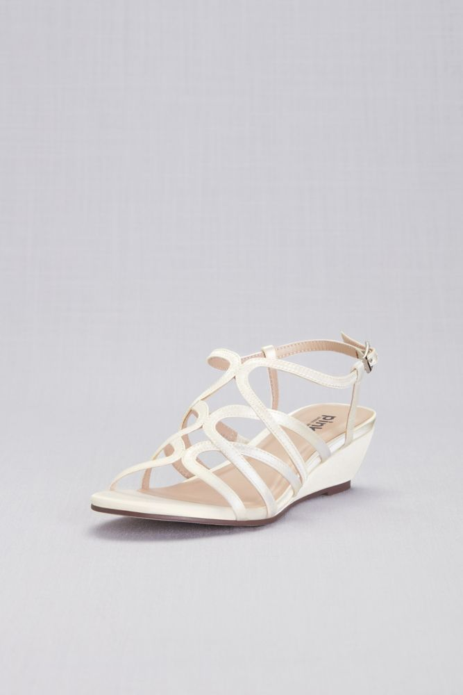 a4492a076 Opulent Crisscross Strappy Low Wedge Sandals Style P1606