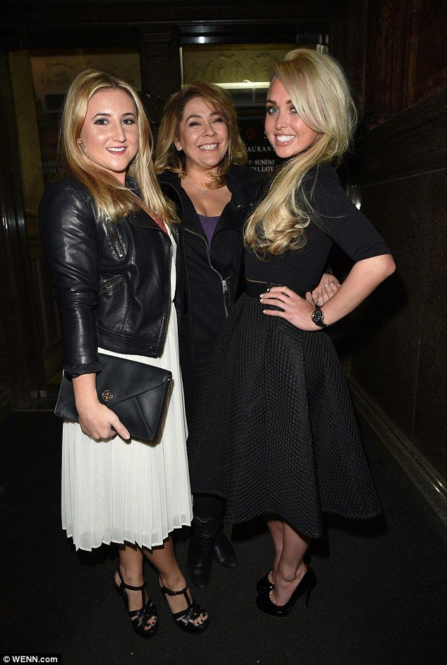Girl's night out:Jorgie was on her way to meet her co-stars Jazz Franks [left] and Nicole...