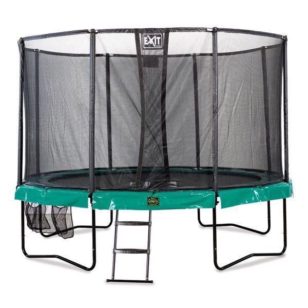 3,7m leveä trampoliini turvakehällä on täydellinen ratkaisu lapsille!
