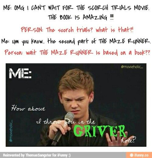 I would have said that too but the scorch trials movie SUCKED!!! Dont watch it of you know what's good for you