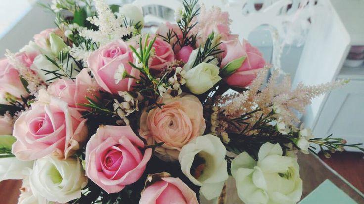 Τριαντάφυλλο ροζ και λισιανθος