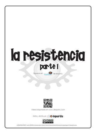 Apuntes: La resistencia. Parte 1.  Apuntes de la asignatura de Educaión Física sobre  la resistencia para alumnos de 1º ESO y 2ºESO