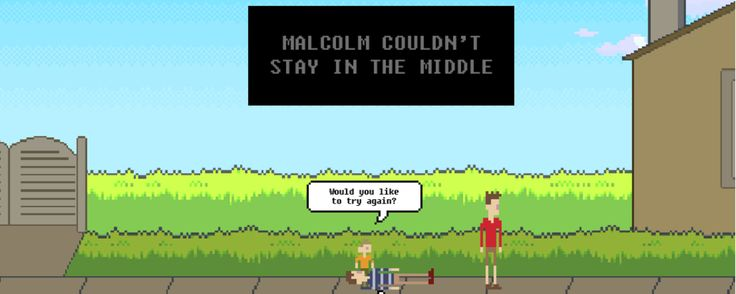 This online game wants you to make Malcolm STAY IN THE MIDDLE