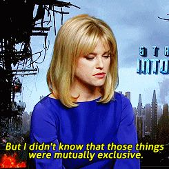 "And when Alice Eve gave this response when she was asked, ""Aren't you a little too beautiful to be a science officer?"""