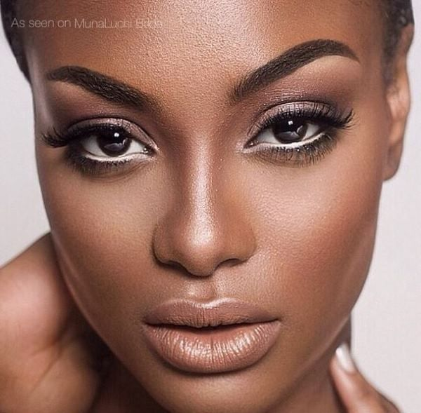 enchanting gaze. nude lip. make-up by shayla