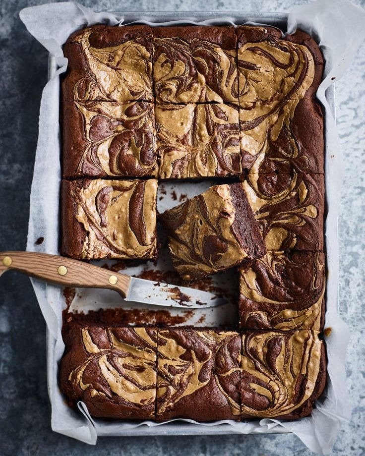 #Brownies #Butter #Peanut Gooey, rich chocol…