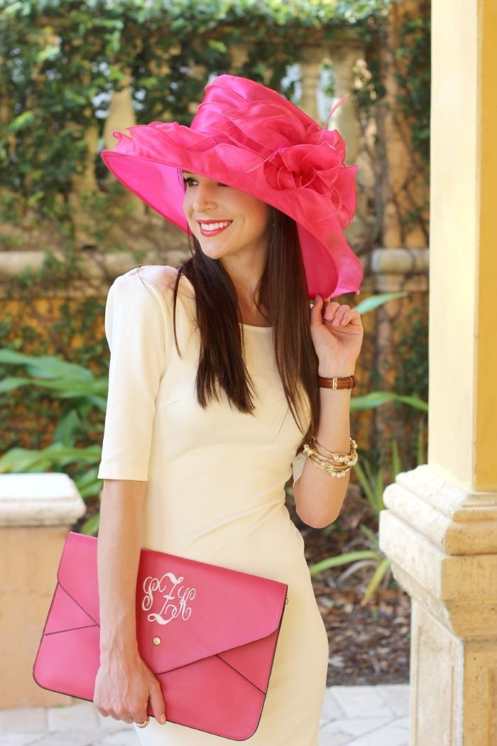 Gorgeous pink organza hat for Derby Day