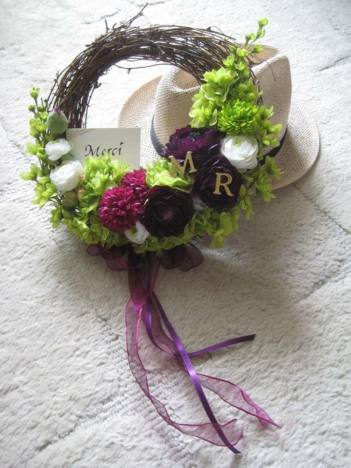 ウェルカムリース♡ 結婚式の後に家で飾れるのがリースのいいところ!
