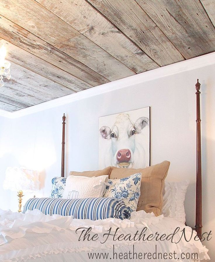 ceiling barnboard reclaimed wood renovation tutorial, bedroom ideas, diy, home decor, home improvement, wall decor