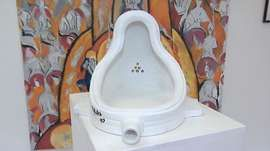 Exhibition queries provenance of Marcel Duchamp urinal