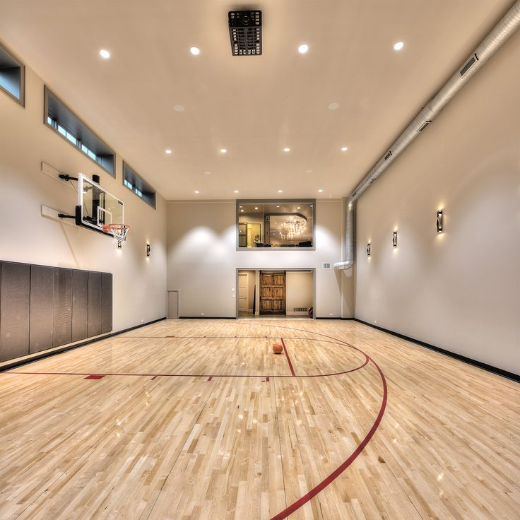 25 best ideas about indoor basketball court on pinterest for Custom indoor basketball court