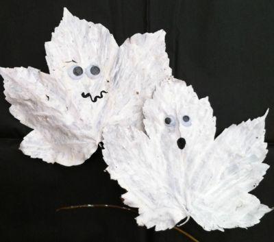 Halloween crafts #netmums #halloween #ghosts #craft #leaves