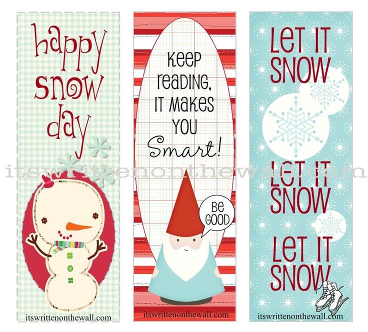 12 Christmas Bookmarks - free printable Christmas Pinterest - christmas bookmark templates