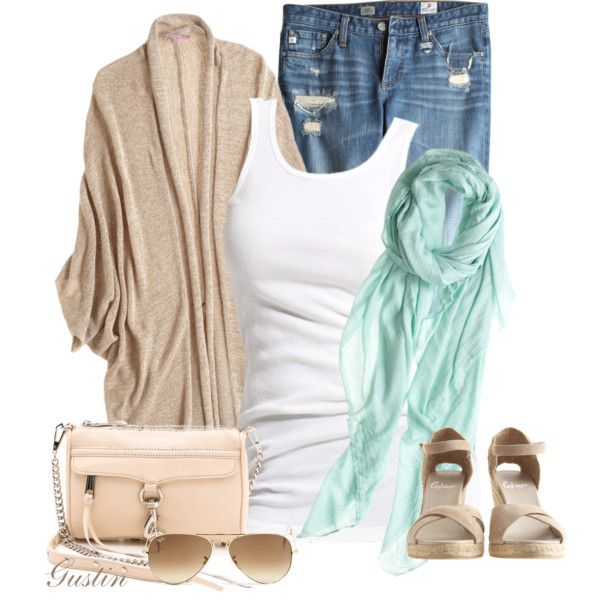 Ahhhhhh that mint scarf jumped out at me, along with that fabulous Rebecca Minkoff bag. This outfit just flows. Summery and feminine all the way around.