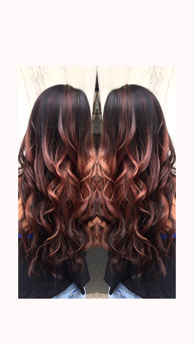 Rosey Balayage Highlights!