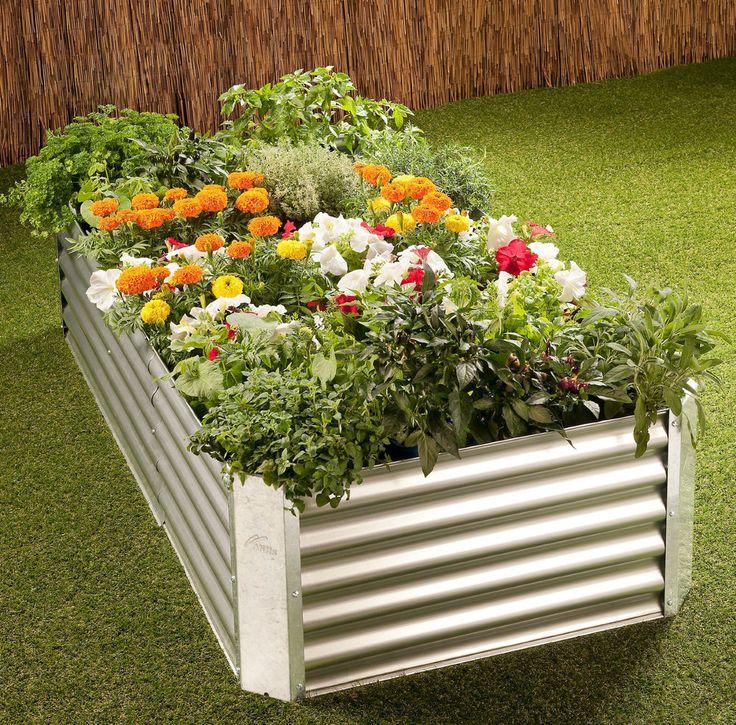 Hills Adda Garden 720 Raised Garden Bed   Galvanized Steel   Corrosion  Resistant
