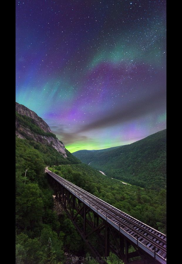 Aurora in the White Mountains of New Hampshire