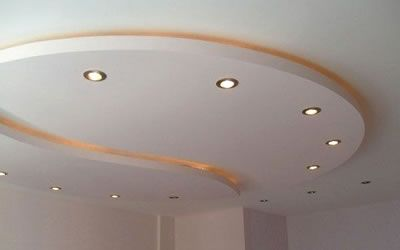 Techo falso de tablaroca dise o de interiores for Plafones de pared para escaleras