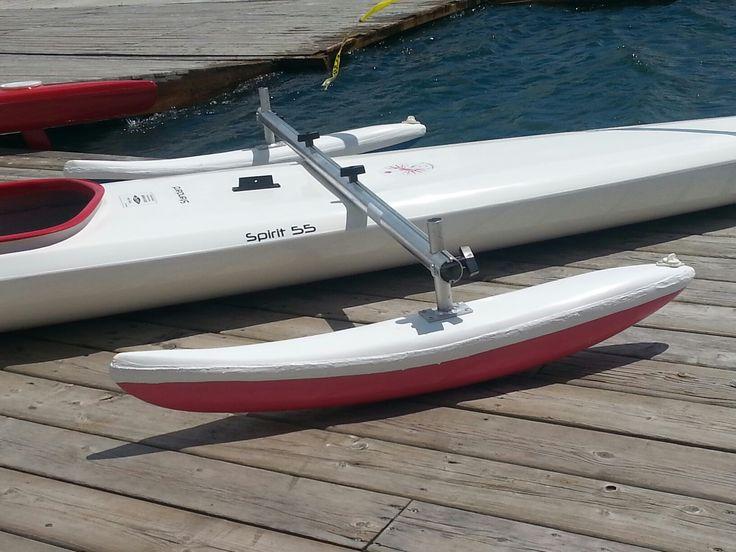 Canoe/kayak racing stabilizer Black Sheep Custom