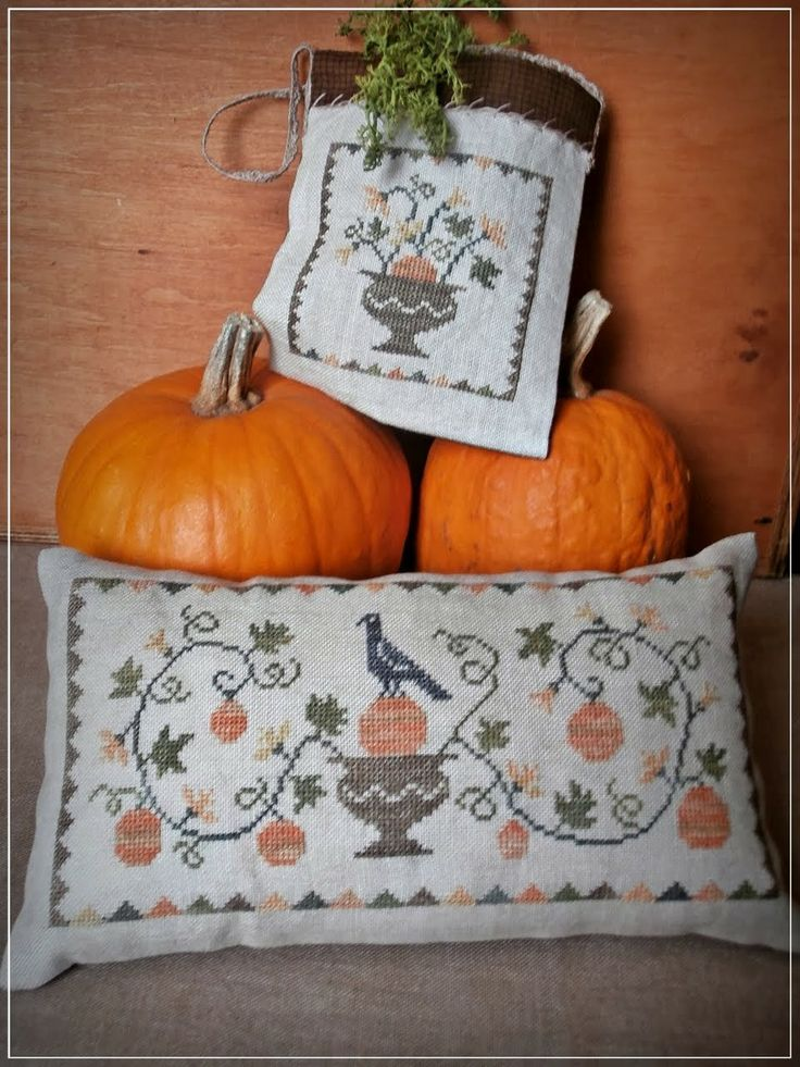 Pumpkin flowers free paatern