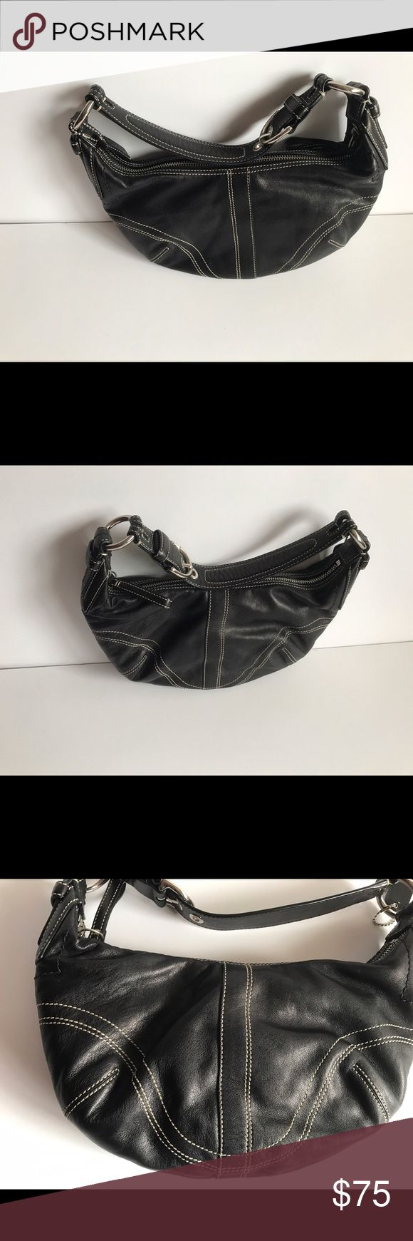 Leather Coach hobo bag Excellent condition; used just a few times. Coach Bags Hobos