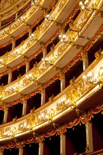 Baroque theatre in Reggio Emilia. Italy.