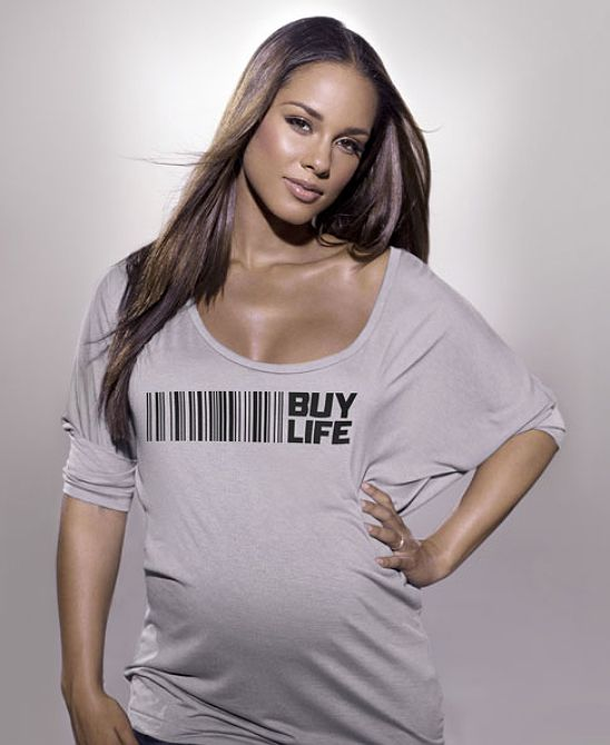 "A PREGNANT ALICIA KEYS AND OTHERS SAY ""BUY LIFE"" - Black Celebrity Kids"