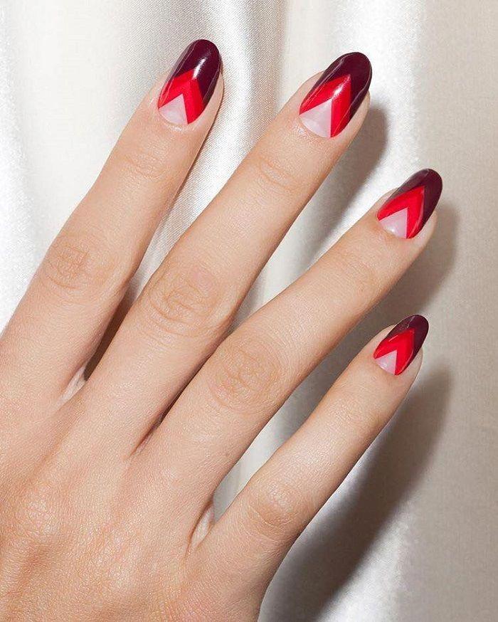 Trendy Winter Nail Designs zum Ausprobieren von roten Formen #Beautifulnails