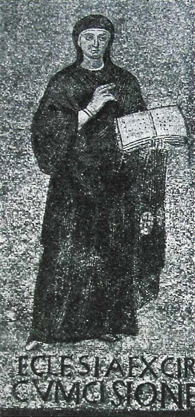 Santa Sabina, Roma. Il mosaico del V secolo (,432–440). la Chiesa della circoncisione