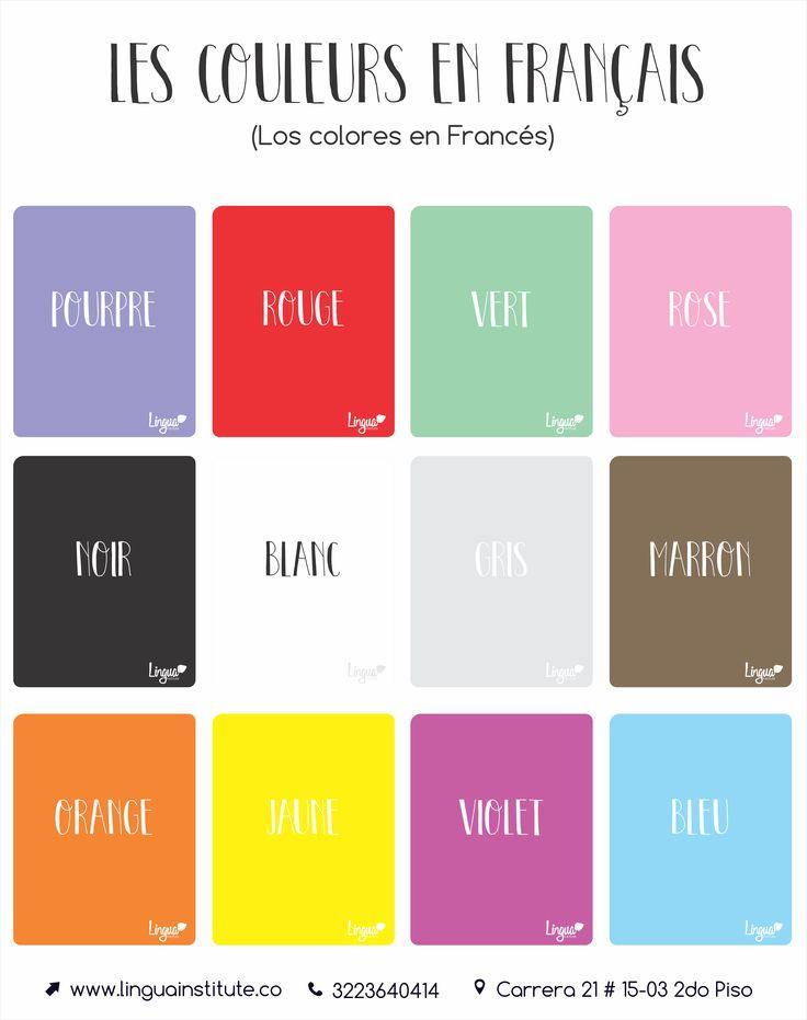 Colores en Francés/ Coleurs en Français - Lingua Institute