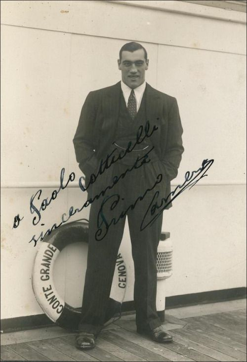 Primo Carnera, italian boxing legend of the 1920s and 1930s
