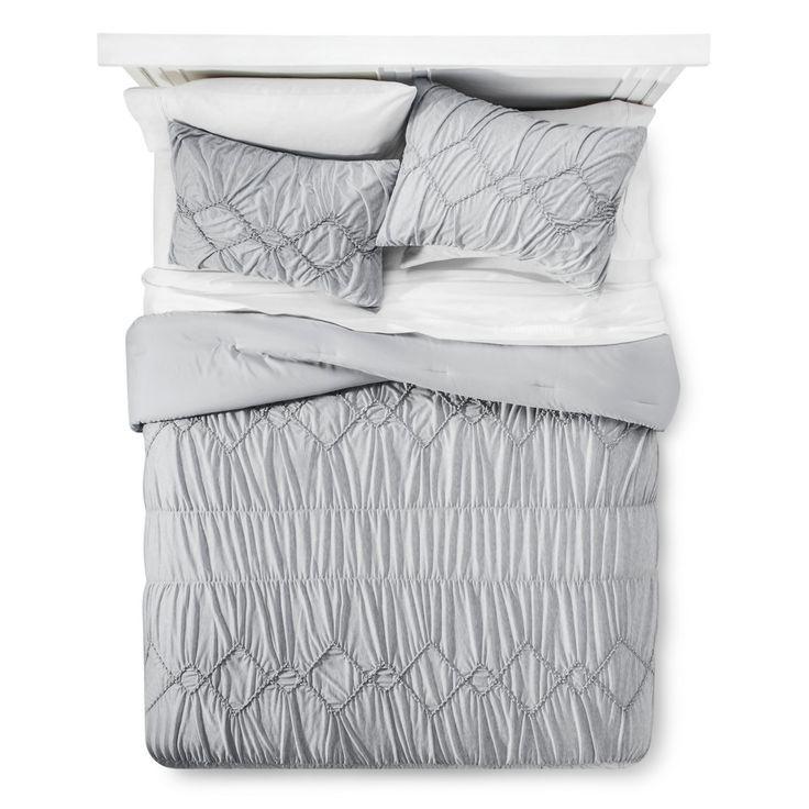 Grey Jersey Textured Comforter Set (Twin/ Twin XL) - Xhilaration, Gray