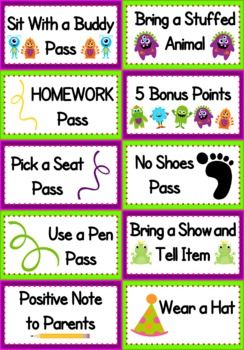 FREEBIE Fun and FREE monster-themed coupons to reward your students for positive behavior :).This title is also included in my Monster-Themed Classroom...
